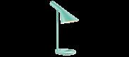 AJ Table lamp -Blue