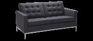 Knoll 2 Seater Sofa - Wool - Charcoal Grey