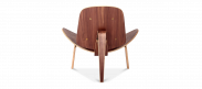 Shell Chair (CH07) - Premium Leather - Tan - Rosewood