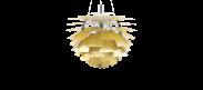 Artichoke Lamp - Polished Brush Brass - 60cm