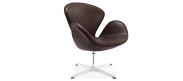 The Swan Chair - Mocha - Premium Leather - With Piping