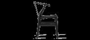 Wishbone (Y) Chair - CH24 - Black - Black Cord