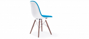 DSW Style Upholstered Dining Chair - Moroccan Blue