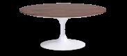 Saarinen Tulip Oval Coffee Table - Walnut