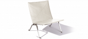 PK22 Chair - White Leather
