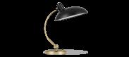 Kaiser Idell Table Lamp - Matt Black / Brass 6631T Luxus