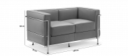 LC2 Style 2 Seater Sofa