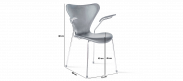 Series 7 Chair Carver - Full Leather - Black
