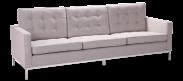 Knoll 3 Seater Sofa - Wool - Pebble Light Grey
