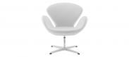 The Swan Chair  - Wool - White