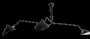 MCL R3 - Three Arm Casquette Ceiling Lamp - Black