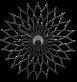 Sunflower Wall Clock  - Black