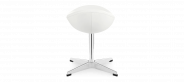 Egg Stool -White- Premium Leather-Without piping