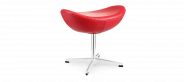 Egg Stool - Red - Standard leather - With piping